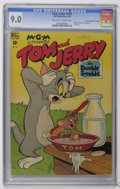 "Golden Age (1938-1955):Cartoon Character, Four Color #193 Tom and Jerry - Davis Crippen (""D"" Copy) (Dell,1948) CGC VF/NM 9.0 Off-white to white pages. Overstreet con..."