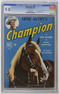 """Golden Age (1938-1955):Miscellaneous, Four Color #287 Gene Autry's Champion - Davis Crippen (""""D"""" Copy) (Dell, 1950) CGC VF/NM 9.0 Off-white pages. Photo cover of ..."""
