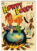 """Golden Age (1938-1955):Humor, Howdy Doody #6 Davis Crippen (""""D"""" Copy) pedigree (Dell, 1951) Condition: VF-. Used in Seduction of the Innocent. Classic..."""
