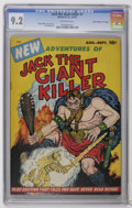 """Golden Age (1938-1955):Miscellaneous, Jack The Giant Killer V1#1 Davis Crippen (""""D"""" Copy) (Bimfort, 1953) CGC NM- 9.2 Off-white pages. Only issue. Henry Kiefer co..."""