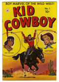 Golden Age (1938-1955):Western, Kid Cowboy #1 Mile High pedigree (Ziff-Davis, 1950) Condition: FN+. Lucy Belle and Red Feather begin. Overstreet 2006 FN 6.0...