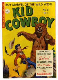 Kid Cowboy #2 Mile High pedigree (Ziff-Davis, 1950) Condition: NM-. Joe Maneely painted cover. Overstreet 2006 NM- 9.2 v...