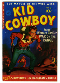 Kid Cowboy #3 Mile High pedigree (Ziff-Davis, 1950) Condition: NM. Painted cover. Overstreet 2006 NM- 9.2 value = $85. F...
