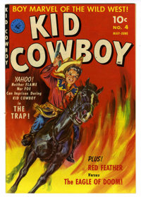 Kid Cowboy #4 Mile High pedigree (Ziff-Davis, 1951) Condition: NM-. Painted cover. Overstreet 2006 NM- 9.2 value = $85...