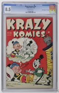 "Golden Age (1938-1955):Funny Animal, Krazy Komics #20 Davis Crippen (""D"" Copy) (Timely, 1946) CGC VF+8.5 Off-white pages. This beautiful copy is also the highes..."