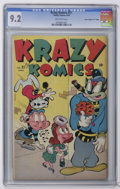 "Golden Age (1938-1955):Funny Animal, Krazy Komics #21 Davis Crippen (""D"" Copy) (Timely, 1946) CGC NM-9.2 Off-white pages. Highest grade yet assigned by CGC for ..."