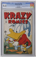"Golden Age (1938-1955):Funny Animal, Krazy Komics #25 Davis Crippen (""D"" Copy) (Timely, 1946) CGC VF+8.5 Off-white pages. Contains six pages of Harvey Kurtzman ..."