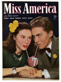 Golden Age (1938-1955):Romance, Miss America Magazine V2#1 Mile High pedigree (Timely, 1945)Condition: NM. Photo cover. Overstreet 2006 NM- 9.2 value = $10...