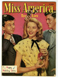 Golden Age (1938-1955):Romance, Miss America Magazine V5#2 Mile High pedigree (Timely, 1946)Condition: VG+. Photo cover. Holiday issue. Overstreet 2006 VG ...