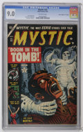 "Golden Age (1938-1955):Horror, Mystic #22 Davis Crippen (""D"" Copy) (Atlas, 1953) CGC VF/NM 9.0Off-white pages. A fantastic copy that has earned the highes..."