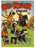 Golden Age (1938-1955):Western, Red Ryder Comics #18 Mile High pedigree (Dell, 1944) Condition:NM-. Fred Harman cover and art. Overstreet 2006 NM- 9.2 valu...