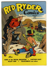 Red Ryder Comics #32 (Dell, 1946) Condition: NM-. Fred Harman cover. Last Alley Oop, Dan Dunn, Captain Easy, and Freckle...