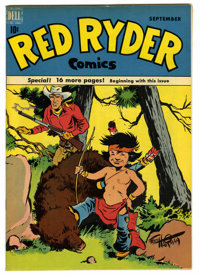 Red Ryder Comics #74 Mile High pedigree (Dell, 1949) Condition: NM. Fred Harman cover. Overstreet 2006 NM- 9.2 value = $...