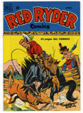Golden Age (1938-1955):Western, Red Ryder Comics #81 Mile High pedigree (Dell, 1950) Condition: NM. Fred Harman cover. Overstreet 2006 NM- 9.2 value = $105....