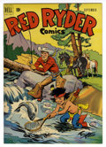 Golden Age (1938-1955):Western, Red Ryder Comics #98 Mile High pedigree (Dell, 1951) Condition: NM-. Fred Harman cover. Overstreet 2006 NM- 9.2 value = $85....