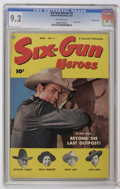 Golden Age (1938-1955):Western, Six-Gun Heroes #7 Crowley Copy (Fawcett, 1951) CGC NM- 9.2 Off-white pages. Photo cover. Highest CGC grade for this issue. O...