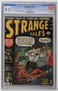"Golden Age (1938-1955):Horror, Strange Tales #12 Davis Crippen (""D"" Copy) (Marvel, 1952) CGC VF+8.5 Off-white pages. This copy would make a great addition..."