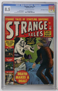 """Strange Tales #13 Davis Crippen (""""D"""" Copy) (Marvel, 1952) CGC VF+ 8.5 Off-white to white pages. Creepy cover b..."""