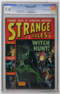 "Golden Age (1938-1955):Horror, Strange Tales #18 Davis Crippen (""D"" Copy) (Marvel, 1953) CGC FN/VF7.0 Off-white to white pages. Features a Russ Heath cove..."