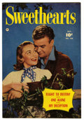 "Golden Age (1938-1955):Romance, Sweethearts #104 Davis Crippen (""D"" Copy) pedigree (Fawcett, 1951)Condition: VF+. Photo cover. Overstreet 2006 VF 8.0 value..."