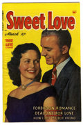"Golden Age (1938-1955):Romance, Sweet Love #4 Davis Crippen (""D"" Copy) pedigree (Harvey, 1950)Condition: VF. Photo cover. Overstreet 2006 VF 8.0 value = $3..."
