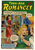 "Golden Age (1938-1955):Romance, Teen-Age Romances #3 Davis Crippen (""D"" Copy) pedigree (St. John, 1949) Condition: FN/VF. Matt Baker cover and art. Overstre..."