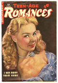 "Golden Age (1938-1955):Romance, Teen-Age Romances #7 Davis Crippen (""D"" Copy) pedigree (St. John,1949) Condition: VG/FN. Matt Baker art. Photo cover. Overs..."