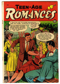 "Teen-Age Romances #16 Davis Crippen (""D"" Copy) pedigree (St. John, 1951) Condition: VG+. Matt Baker cover art..."