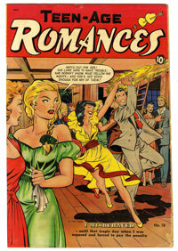 "Teen-Age Romances #18 Davis Crippen (""D"" Copy) pedigree (St. John, 1951) Condition: VG. Matt Baker cover and a..."