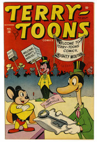 Terry-Toons Comics #38 Mile High pedigree (Timely, 1945) Condition: VG/FN. First appearance of Mighty Mouse, covers begi...