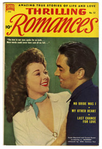 "Thrilling Romances #12 Davis Crippen (""D"" Copy) pedigree (Standard, 1951) Condition: VF. Photo cover. Wally Wo..."