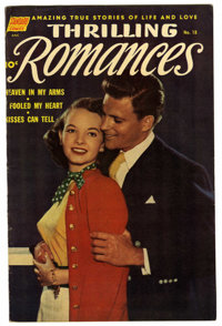 "Thrilling Romances #18 Davis Crippen (""D"" Copy) pedigree (Standard, 1952) Condition: VF/NM. Photo cover. Overs..."