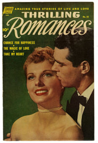 "Thrilling Romances #23 Davis Crippen (""D"" Copy) pedigree (Standard, 1953) Condition: VF. Photo cover. Alex Tot..."