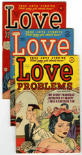 "Golden Age (1938-1955):Romance, True Love Problems Davis Crippen (""D"" Copy) pedigree Group (Harvey,1951-53). Issues includes #7 (FN+), #8 (F/VF), #9 (FN), ... (Total:8 Comic Books)"