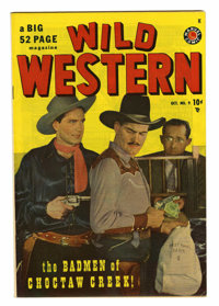 Wild Western #9 Mile High pedigree (Atlas, 1949) Condition: NM-. Photo cover. Black Rider begins. This book could not be...