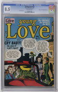 "Golden Age (1938-1955):Romance, Young Love #22 Davis Crippen (""D"" Copy) Double Cover (Prize, 1951)CGC VF+ 8.5 Off-white pages. Jack Kirby cover art. Highes..."