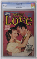 """Golden Age (1938-1955):Romance, Young Love #28 Davis Crippen (""""D"""" Copy) (Prize, 1951) CGC NM- 9.2Off-white pages. Photo cover. This lone CGC-graded copy is..."""