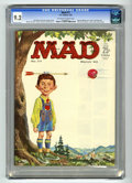 Magazines:Mad, Mad #77 (EC, 1963) CGC NM- 9.2 Off-white to white pages. Norman Mingo cover. JFK and Fidel Castro photos. Comic strip spoofs...
