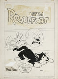 Original Comic Art:Covers, Art Bartsch (attributed) - Little Roquefort Comics #1 CoverOriginal Art (St. John, 1952). It's mouse and cat fun and games ...