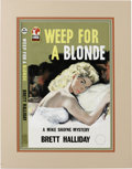 "Original Comic Art:Covers, ""Weep For a Blonde"" British Paperback Cover (undated). A beautifulblonde is waiting in bed in this Mike Shayne mystery -- h..."