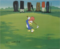 "Animation Art:Limited Edition Cel, ""Golfing Fool"" Limited Edition Hand Painted Cel Artist's Proof#5/10 Original Art (Walter Lantz Productions, 1992). Recreate...(Total: 2 Items)"
