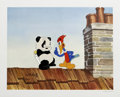 "Animation Art:Limited Edition Cel, ""Woody Woodpecker Scolds Andy Panda"" Hand Painted Cel #6/200Original Art (Walter Lantz Productions). This limited edition c...(Total: 2 Items)"