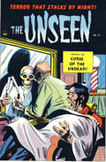 Original Comic Art:Miscellaneous, Mort Meskin and George Roussos - The Unseen #15 Printer's Proof (Standard, 1954). Leave it up to a faceless barber to give y...