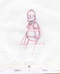 Animation Art:Production Drawing, The Simpsons - Homer and Marge Simpson Animation Drawing OriginalArt, Group of 9 (Twentieth Century Fox, 2003). Nine extrao...(Total: 9 Items)