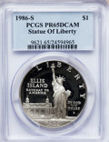 Modern Issues: , 1986-S $1 Statue of Liberty Silver Dollar PR65 Deep Cameo PCGS.PCGS Population (38/8405). NGC Census: (5/10849). Mintage: ...