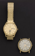 Timepieces:Wristwatch, Two Omega's Gent's Wristwatches One Is A Constellation & AChronometre. ... (Total: 2 Items)