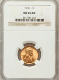 Lincoln Cents: , 1936 1C MS65 Red NGC. NGC Census: (254/2011). PCGS Population(391/1961). Mintage: 309,637,568. Numismedia Wsl. Price for p...