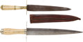 Edged Weapons:Daggers, 2 19th Century Bone Handle Knives... (Total: 2 Items)