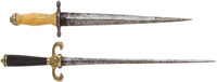 2 19th Century Daggers One With Eagle Head Quillons