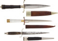 Edged Weapons:Daggers, 3 19th Century Dirks With Sheaths... (Total: 3 Items)